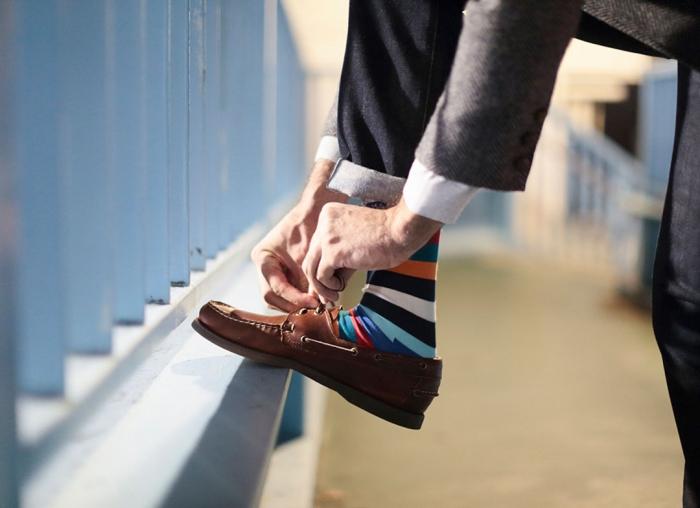 Sosete Happy Socks cu Dungi Colorate 0
