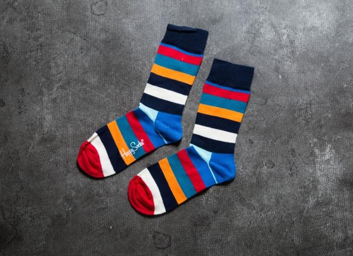 Sosete Happy Socks cu Dungi Colorate 4