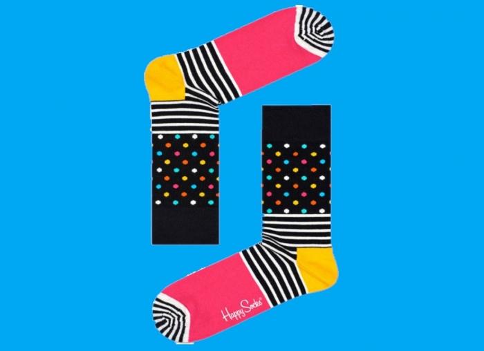 Sosete Happy Socks cu dungi si buline 1