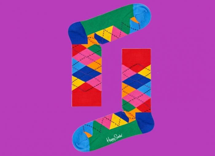Sosete Happy Socks cu romburi 2
