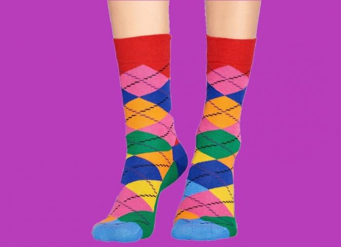 Sosete Happy Socks cu romburi 1