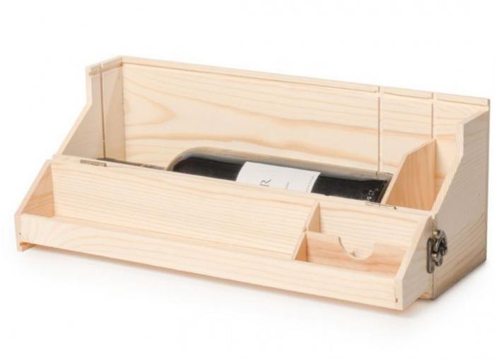 Suport din lemn multifunctional pentru vin 2