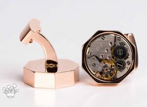Butoni mecanism ceas fix octogon cu cadran cupru