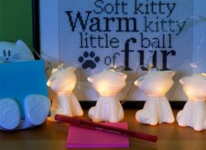 Instalatie de lumini cu pisici