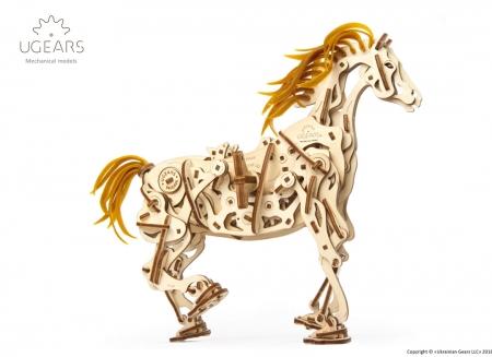 Puzzle 3D Cal Bionic din lemn Ugears16