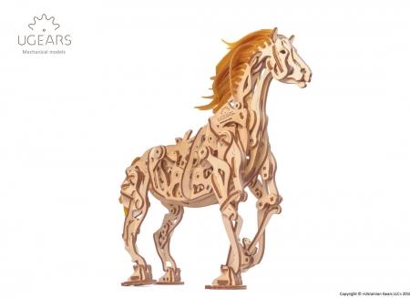Puzzle 3D Cal Bionic din lemn Ugears15