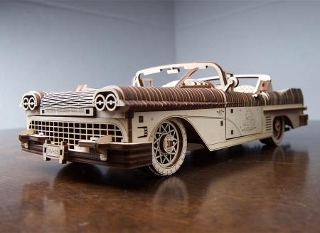 Puzzle 3D Dream Cabriolet VM-05 din lemn Ugears0