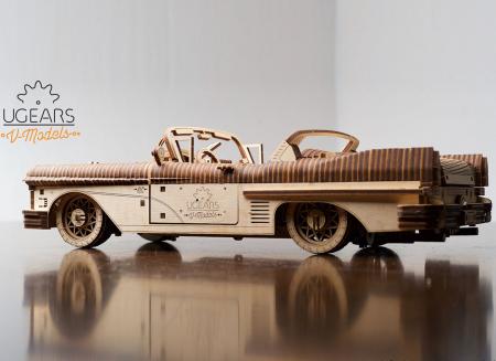 Puzzle 3D Dream Cabriolet VM-05 din lemn Ugears3