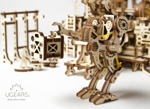 Puzzle 3D Fabrica Robotizata din Lemn Ugears
