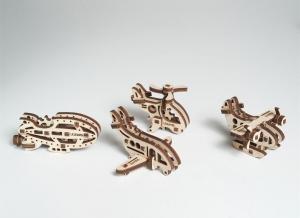 Puzzle 3D Fidget Avioane din Lemn Ugears1