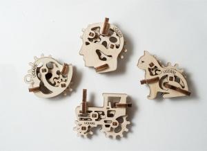 Puzzle 3D Fidget Tribiki din Lemn Ugears7