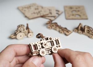 Puzzle 3D Fidget Vehicule din Lemn Ugears3