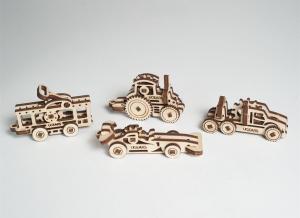 Puzzle 3D Fidget Vehicule din Lemn Ugears6