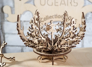 Puzzle 3D Floare din Lemn Ugears0
