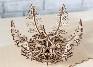 Puzzle 3D Floare din Lemn Ugears10