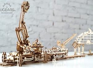Puzzle 3D Macara pe Sine din Lemn Ugears30