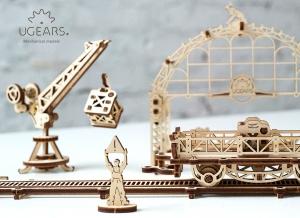 Puzzle 3D Macara pe Sine din Lemn Ugears2