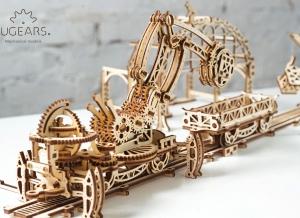 Puzzle 3D Macara pe Sine din Lemn Ugears13