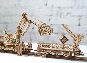 Puzzle 3D Macara pe Sine din Lemn Ugears14