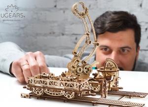 Puzzle 3D Macara pe Sine din Lemn Ugears3