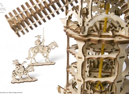 Puzzle 3D Moara de vant din lemn Ugears2