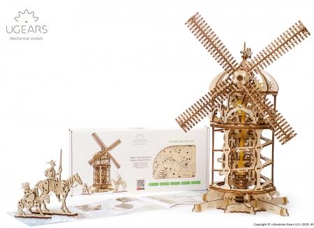 Puzzle 3D Moara de vant din lemn Ugears0
