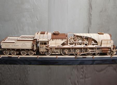 Puzzle 3D Tren V- Express cu abur din lemn Ugears21