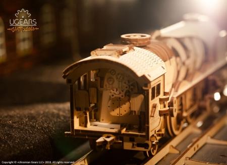 Puzzle 3D Tren V- Express cu abur din lemn Ugears12