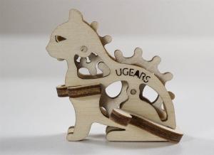 Puzzle 3D Fidget Tribiki din Lemn Ugears2