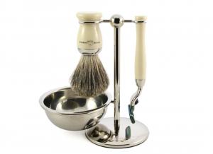 Set cadou barbati pentru barbierit 4 piese Ebony Fit, Edwin Jagger2