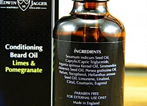 Ulei pentru ingrijire barba Limes & Pomegranate, Edwin Jagger5
