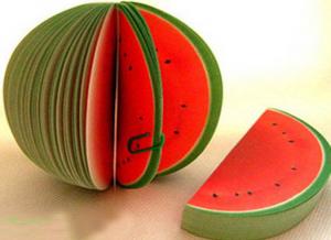 Carnetel de notite in forma de fructe