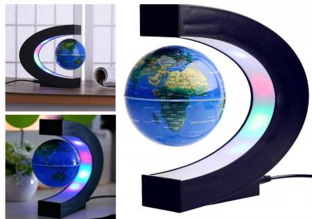 Glob magnetic plutitor cu iluminare LED. C-Shape1