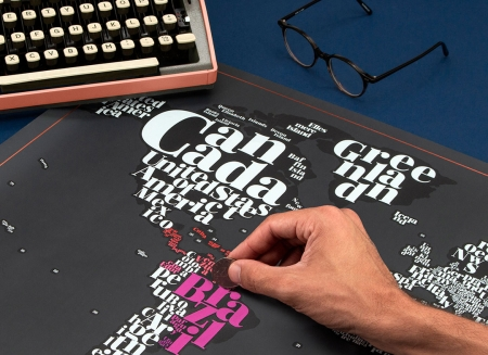 Harta razuibila Typogeography - Originala Luckies1