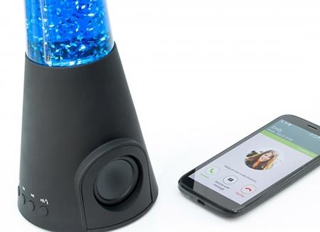 Lampa lava cu difuzor si microfon