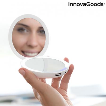 Oglinda MakeUp 3in 1 cu LED si incarcare smartphone3