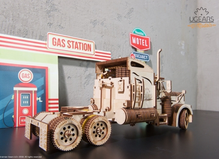 Puzzle 3D Camion VM-03 din lemn Ugears13