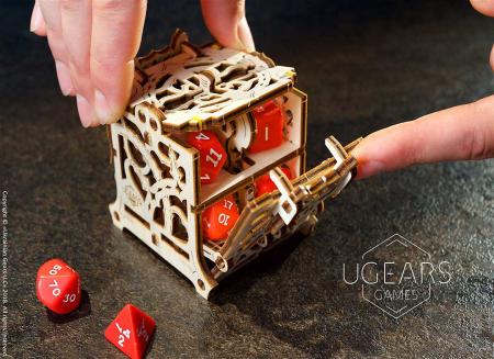 Puzzle 3D Cutie mecanica zaruri Ugears8