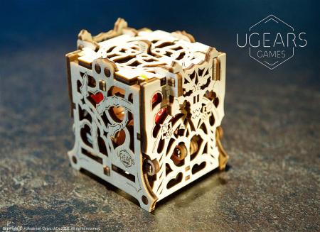 Puzzle 3D Cutie mecanica zaruri Ugears4