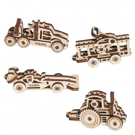 Puzzle 3D Fidget Vehicule din Lemn Ugears2