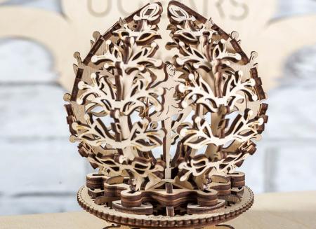 Puzzle 3D Floare din Lemn Ugears9