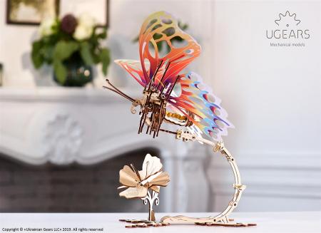 Puzzle 3D Fluture mecanic Ugears1