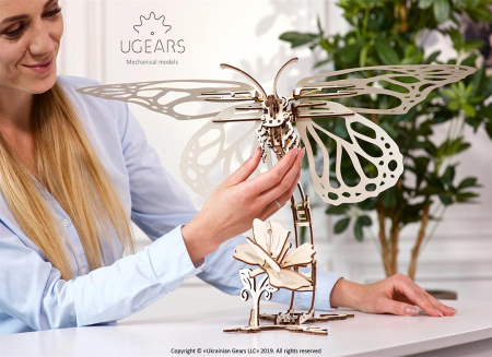 Puzzle 3D Fluture mecanic Ugears2
