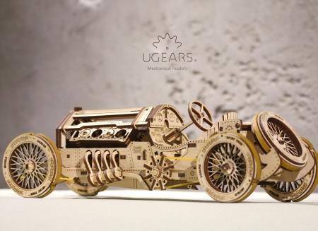 Puzzle 3D Masina Grand Prix U-9 din lemn Ugears5
