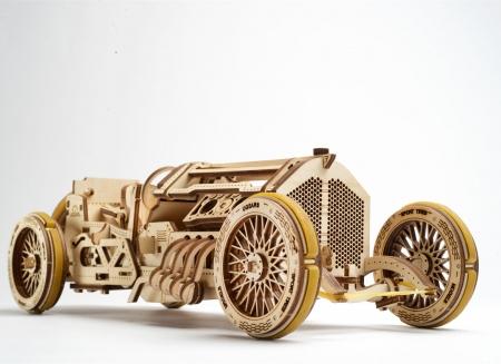 Puzzle 3D Masina Grand Prix U-9 din lemn Ugears0