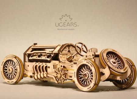 Puzzle 3D Masina Grand Prix U-9 din lemn Ugears4
