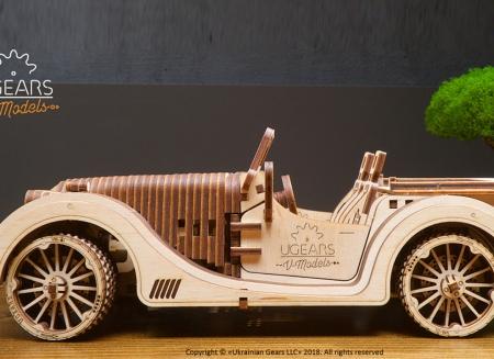 Puzzle 3D Model Roadster VM-O1 din lemn Ugears
