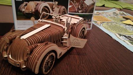 Puzzle 3D Model Roadster VM-O1 din lemn Ugears19