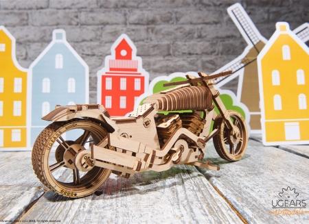 Puzzle 3D Motocicleta VM-02 din lemn Ugears16