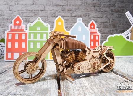 Puzzle 3D Motocicleta VM-02 din lemn Ugears15